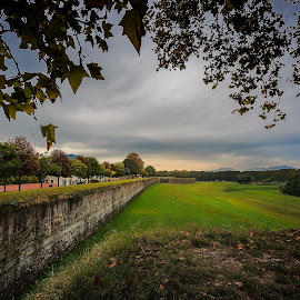Le mura di Lucca by Rob Menting - City,  Street & Park  Skylines ( canon, eos, europe, tuscany, italia, 70d, lucca, italië, travel, architecture, canon eos 70d, city )