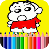 Learn Coloring for shin chan APK for Bluestacks