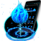 Download Full 3D Blue Fire Ball Theme 1.1.3 APK