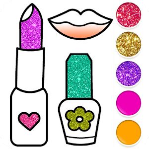 Beauty Drawing Pages Make Up Coloring Book Glitter Online PC (Windows / MAC)
