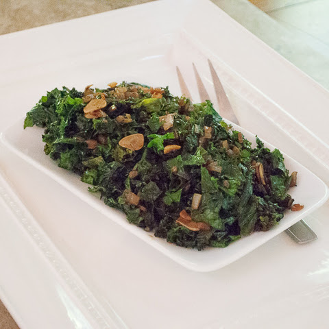 Sauteed Kale with Garlic Chips