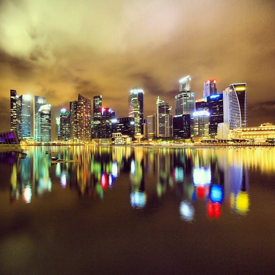 singapore by Vincentius Dedy Angsana - Instagram & Mobile Android ( night photography, buildings, cityscape, singapore )