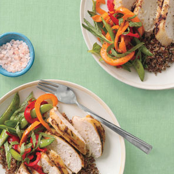 ... Lemongrass Chicken With Red Quinoa and Vegetables Recipe | Yummly