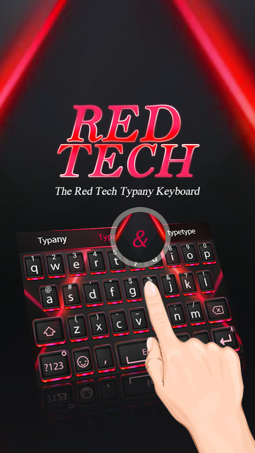 Red Tech Theme & Emoji Keyboard android apps download