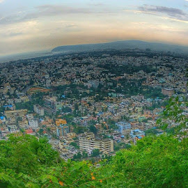 View from kailasagiri hills  #mobilepic ##oldclick by TaRun Kumar - City,  Street & Park  Skylines
