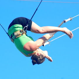 Flying Trapeze Straddle Whip by Terry Bernardo - Sports & Fitness Other Sports ( flying, safety harness, trapeze, flying trapeze, outdoors, lines, straddle whip )