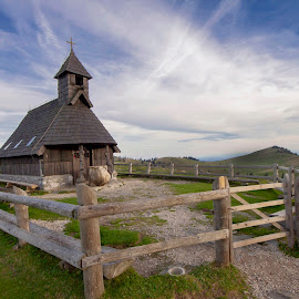 Chapel of Mary Snow, On the Velika Planina by Jože Kavčič-Joc - Buildings & Architecture Places of Worship