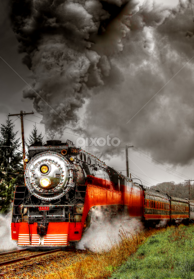 Daylight 4-8-4 steam Locomotive by Nickel Plate Photographics - Transportation Trains