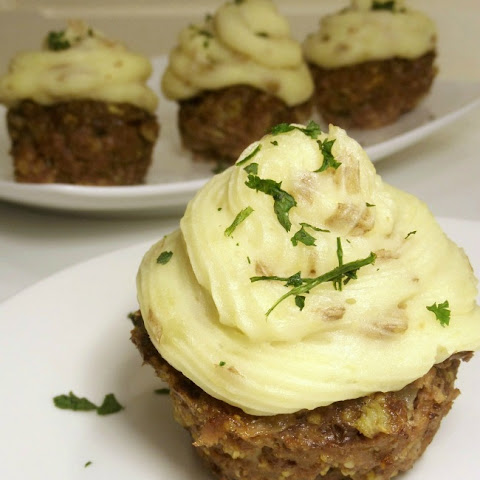 Meatloaf and Mashed Potato Cupcakes
