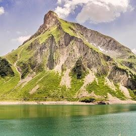 Spuller lake in Lech Mountains by Linda Brueckmann - Landscapes Mountains & Hills