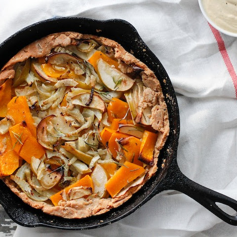 Butternut Squash, Fennel & Apple Galette