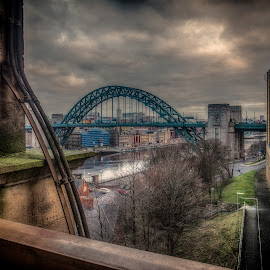 From The High Level by Adam Lang - City,  Street & Park  Historic Districts ( the high level, river tyne, gateshead, tyne bridge, newcastle )