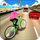 Beach Bicycle Traffic Rider 3D APK for Bluestacks