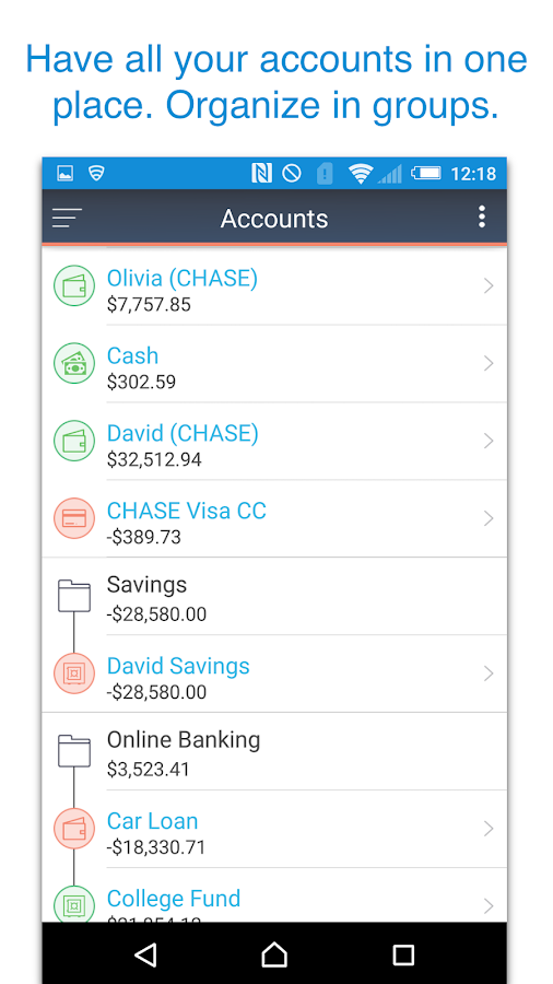 MoneyWiz 2 - Personal Finance Screenshot 1