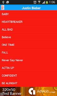 Justin Bieber Some Lyrics - screenshot