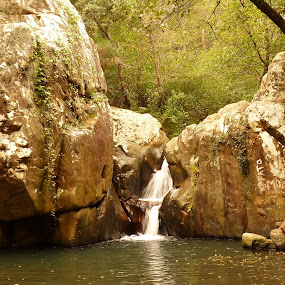 Rio de la Miel, Algeciras, Spain by Gabrielle Phillips - Landscapes Waterscapes ( alcornocales, waterscape, algeciras, waterfall, andalucia, rio de la miel, rock, pond )