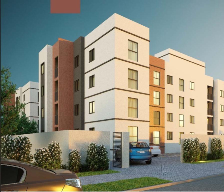 Apartamento com 2 dormitórios à venda, 45 m² por R$ 146.900 - Planta Bairro Weissópolis - Pinhais/PR