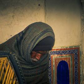 Cold Morning in Mandawar by Karin Wollina - People Portraits of Men ( cold, india, morning, mandawar, man,  )