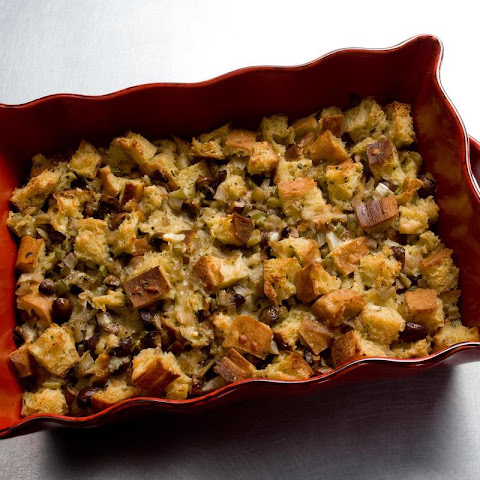 Mushroom and Fennel Bread Pudding