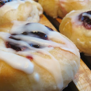 Raspberry Breakfast Buns