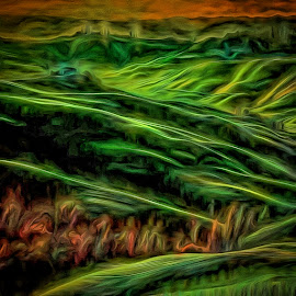 Ski Slopes of Spring by Allen Crenshaw - Painting All Painting ( nature, art, painting, spring, design, ski slopes )