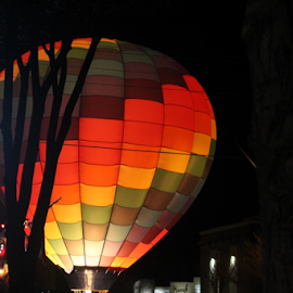 Night Glow by Mike Logan - Novices Only Street & Candid ( hot air balloon, night glow,  )