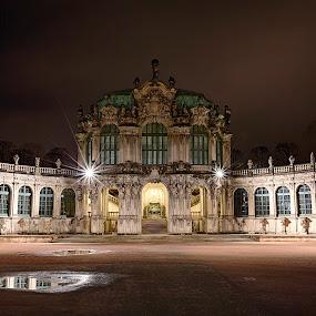 What a wonderful night ! by Kai Buddensiek - Travel Locations Landmarks ( reflection, pwclandmarks, hdr, night, germany, dresden, 16-35, zwinger, light )