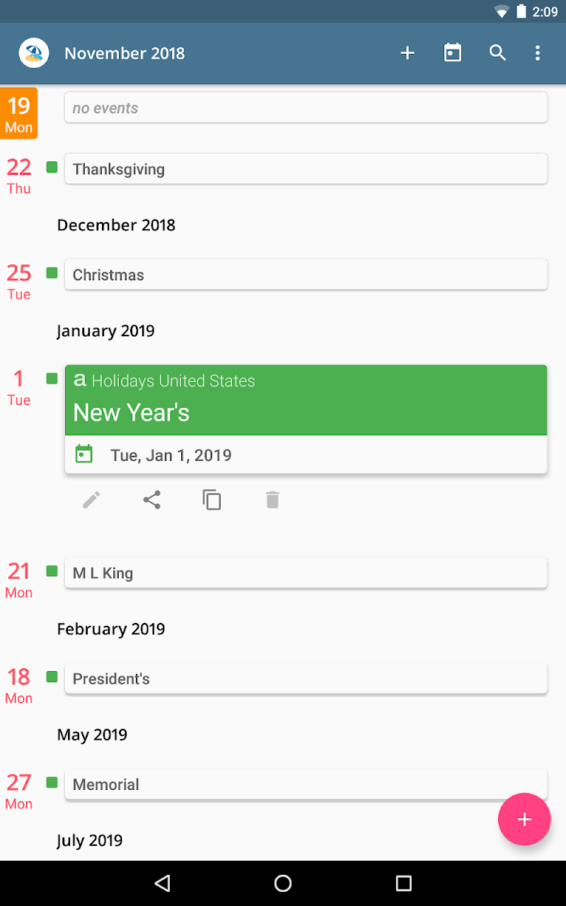 aCalendar+ Calendar & Tasks Screenshot 11