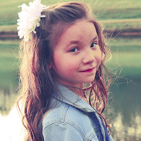 lindsey by Autumn Horton - Babies & Children Child Portraits ( child, sweet, children, cute, hair, flower )