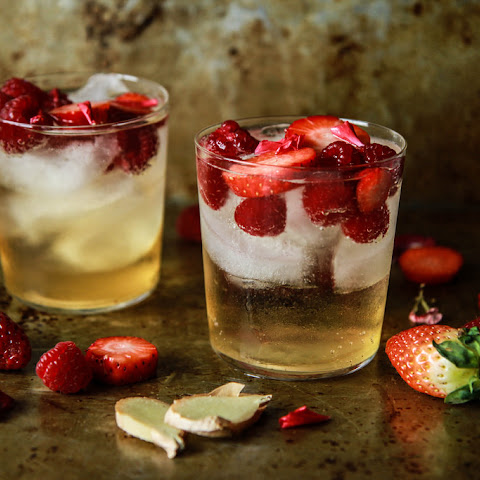 Strawberry Raspberry Ginger Moscow Mule