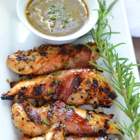 Grilled Bacon Wrapped Chicken with Sweet Black Pepper and Rosemary