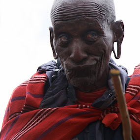 A Real Maasai by Jordan McGibney - People Portraits of Men ( kenyan man, maasai warrior, kenya )