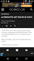 Screenshot of Goings On: The New Yorker
