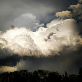 Summer Storm blowing in by Alex Rosenkranz - Landscapes Weather ( summer storms, thunderhead )