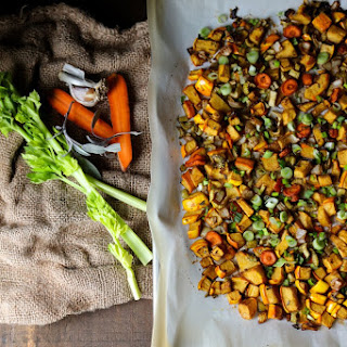 Roasted Balsamic Sage Root Vegetable Stuffing