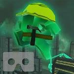Cityscape Repairman Cardboard Icon