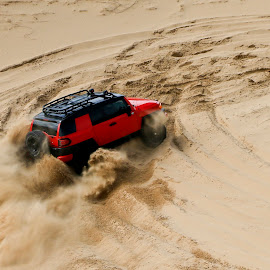 Playing on the dunes by Gail Camons Erasmus - Transportation Other ( 4x4, dunes, offroad, sand d )