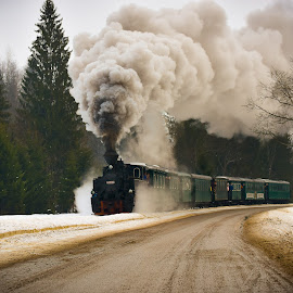 steam by Sorin Banuta - Transportation Trains