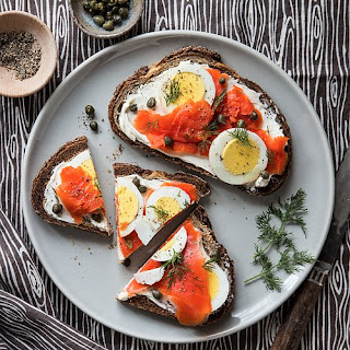 Smoked Salmon Capers Toast Recipes