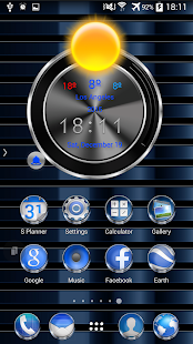 TSF Shell Launcher Theme Azure - screenshot