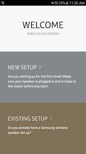 Wireless Audio–Multiroom(Beta) Android App Screenshot