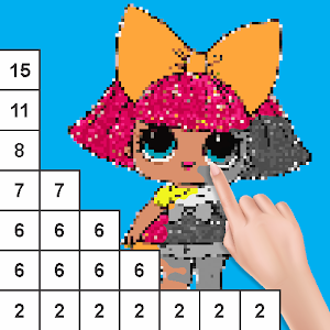 Coloring Cartoon Surprise Dolls Color by Number For PC / Windows 7/8/10 / Mac – Free Download