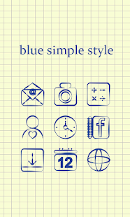 Blue Simple Style Theme - screenshot
