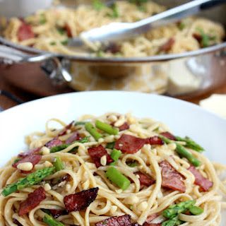 Bacon & Asparagus Linguine with Browned Butter Sauce