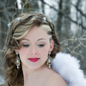 Winter Angels.. by Tine Butler - Wedding Bride ( model, brides, crisp air, white, frost, beauty, photography, fantasy, weddingbells, red, winter, rock the frock, manitoba photographer, tine butler, fog, wedding, magical, brideal session, tine butler photography, fairy-tale, heaven and earth )