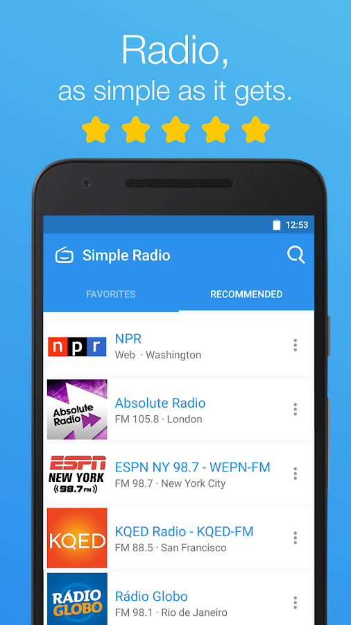 Simple Radio - Free Live FM AM Screenshot 0