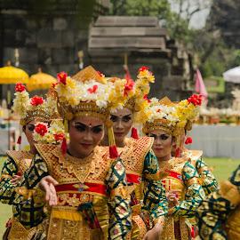by Arry Gunawan - People Musicians & Entertainers ( girl, yogyakarta, ritual, indonesia, traditional, nikon, women, prambanan, dance, hinduism )