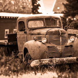 I've seen a few things by Leslie Heisey - Novices Only Objects & Still Life ( palouse, monochromatic, old, truck, abandoned )