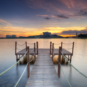Future Ahead by Zackri Zim's - Landscapes Weather ( picc, zackri zim's, d3000, vertorama, cokin filter, hdr, nature, waterscape, nikon, kitlens, putrajaya sunset )