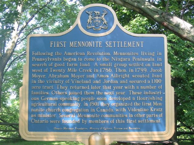 Following the American Revolution, Mennonites living in Pennsylvania began to come to the Niagara Peninsula in search of good farm land. A small group settled on land west of Twenty Mile Creek in ...